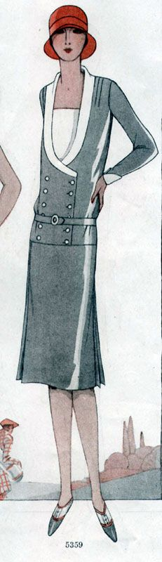 Double-breasted dress, McCall pattern 5359, 1928.