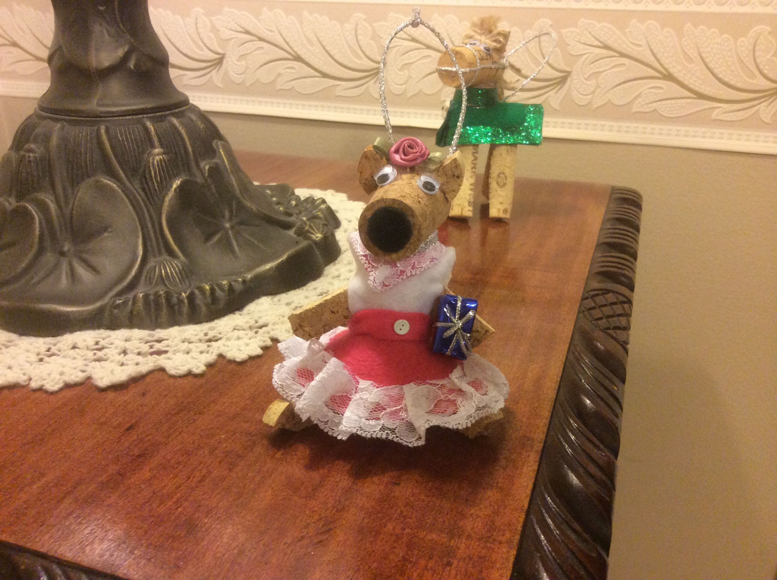 Christmas 2014 | Cork ornaments, How to make ornaments ...