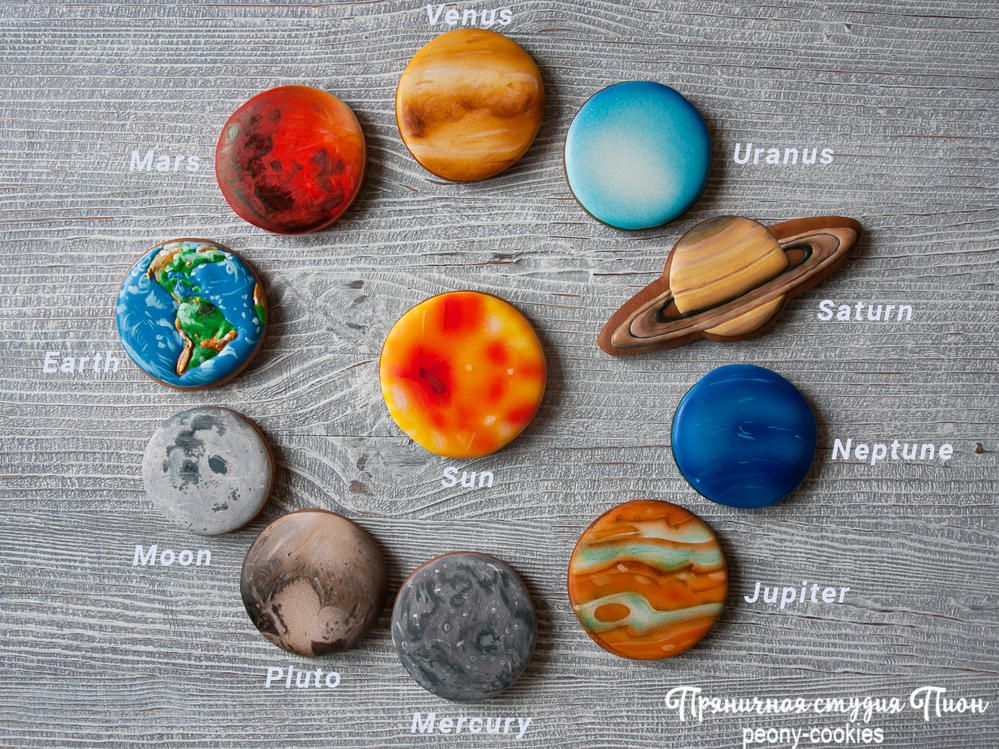 Cookie Solar System by Peony cookies Cookie Inspiration