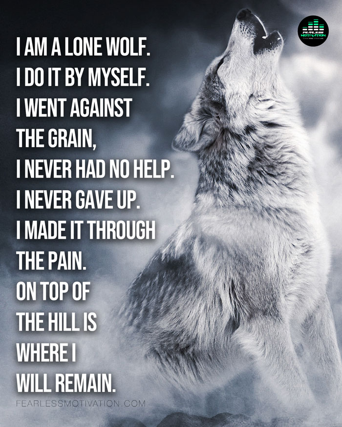 Lone Wolf (The Song) Official Music Video - Fearless Motivation in 2020 | Lone  wolf, Lone wolf quotes, Wolf quotes