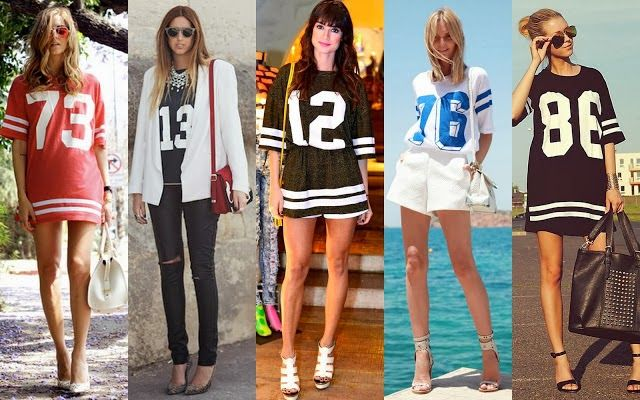 178901582 Camisetas de Futebol Americano Femininas