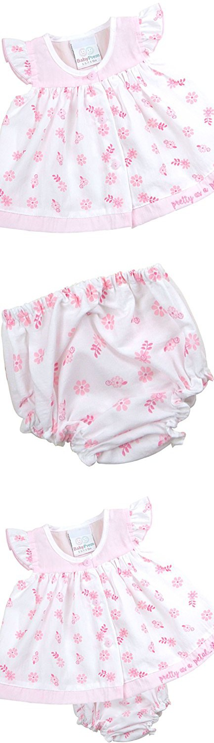 9e3af8f9d BabyPrem Preemie Baby Dress Knickers Set Pretty Pink Girl s Clothes ...