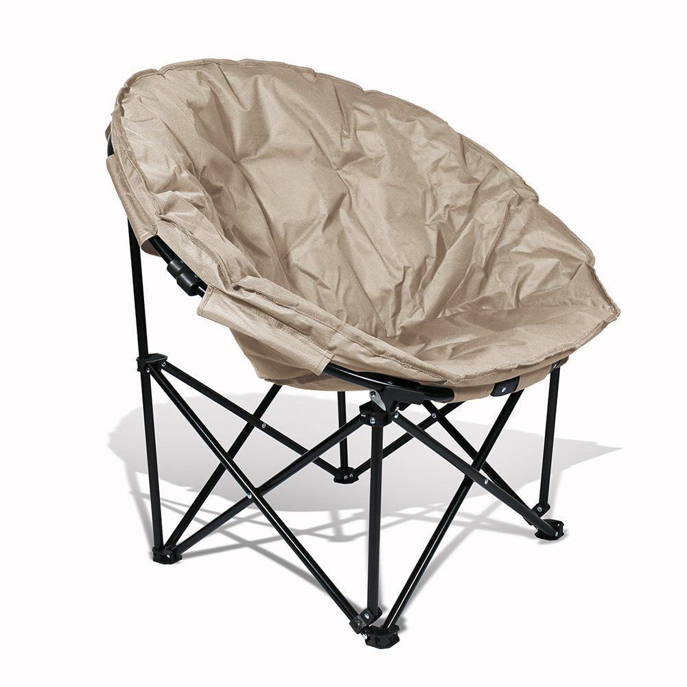 extra comfort and sturdy moon saucer chair with convenient shoulder