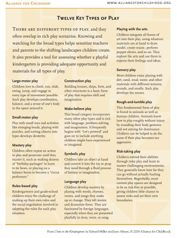 12 Key Types of Play
