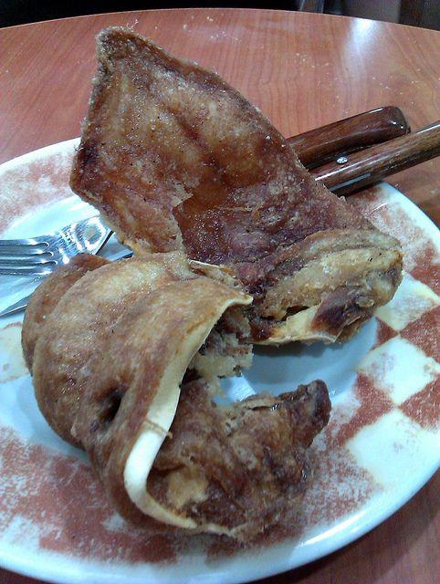 Oreja Frita De Cerdo La Cocina A Baja Temperatura, A 70º C Exactamente,  Durante