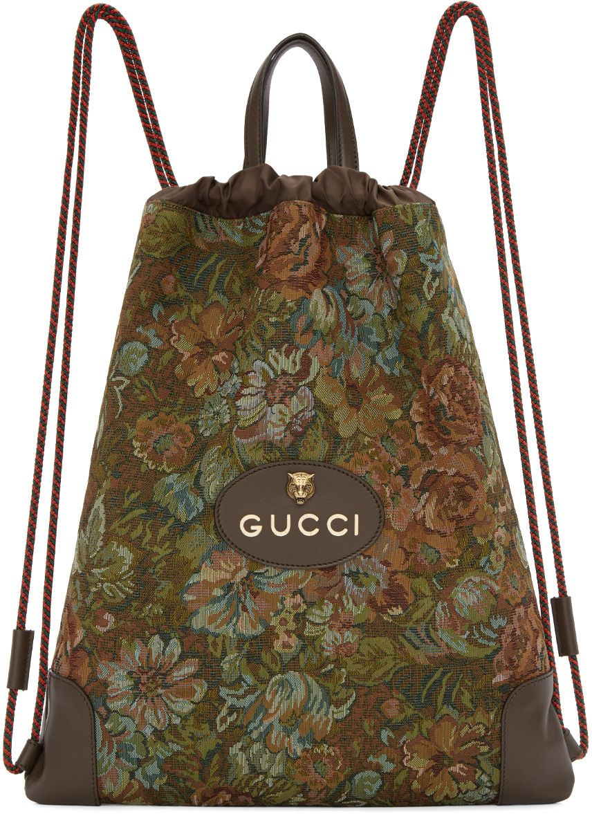 64d72490b4f GUCCI .  gucci  bags  leather  lining  nylon  backpacks