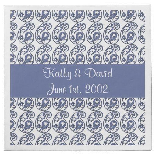 Blue Paisley (Wedding) Paper Napkins ......... http://www.zazzle.com/blue_paisley_wedding-256347445432433252?rf=238631258595245556