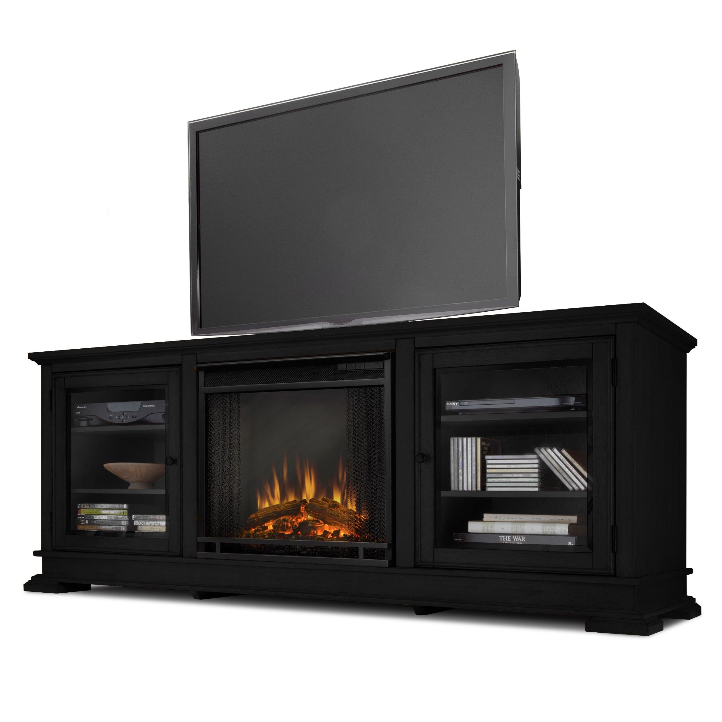low media fireplace real center electric freestanding console this substantial flame with pin