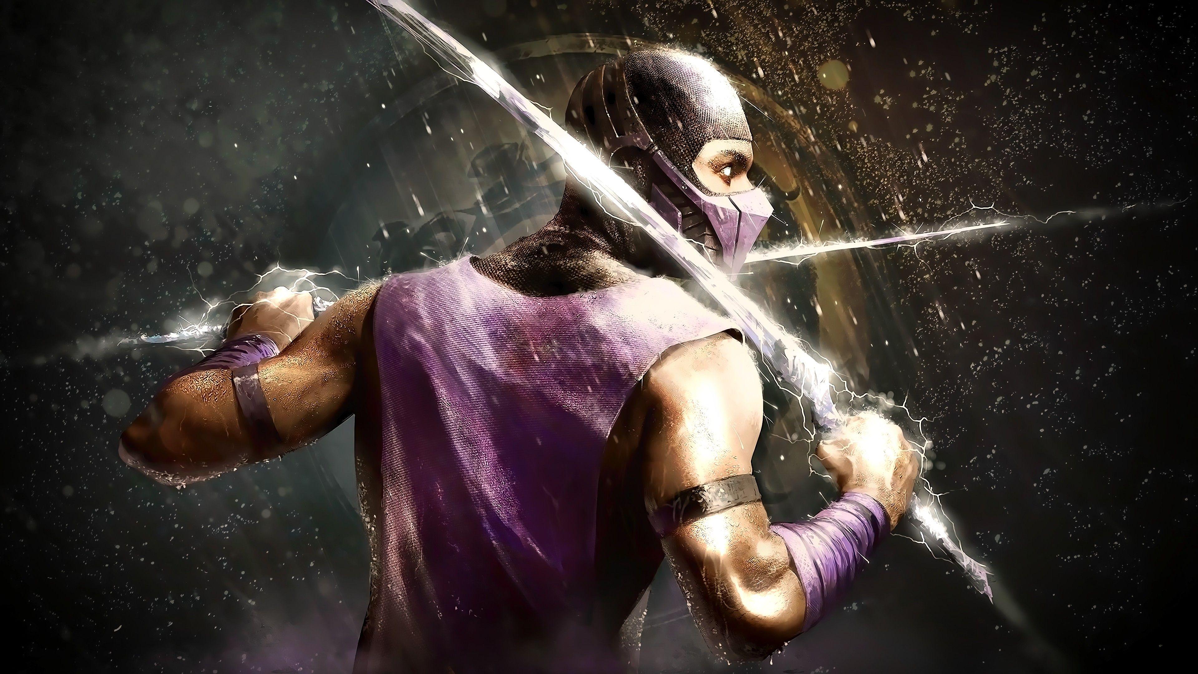 General 3840x2160 Mortal Kombat Rain Scorpion Mortal Kombat Art Mortal Kombat X Mortal Kombat Characters