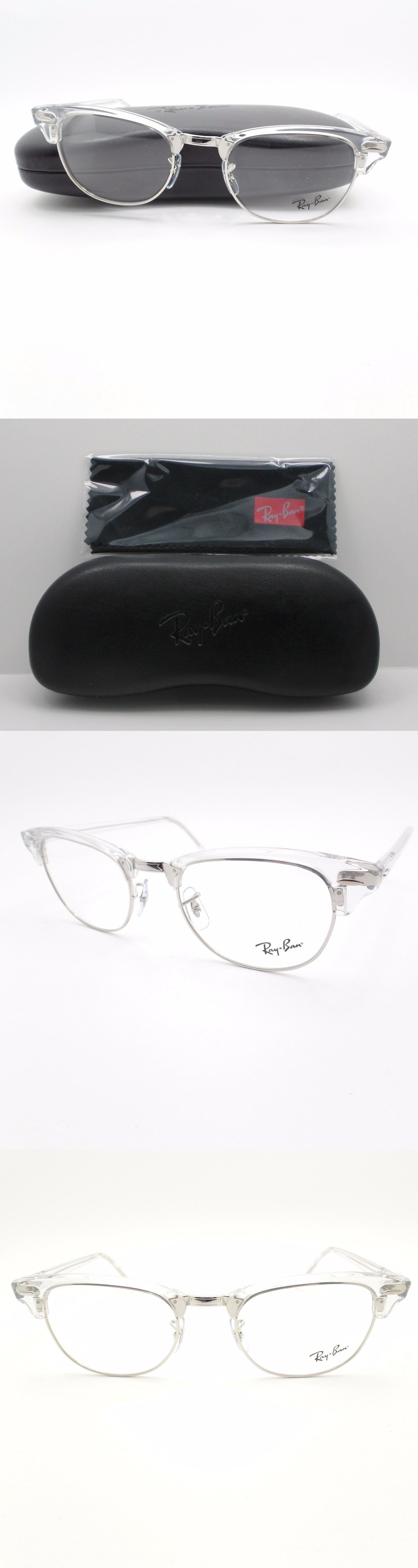 1cd282cffe8 discount code for sunglasses 155189 ray ban clubmaster 5154 2001 white  transparent silver frame new authentic