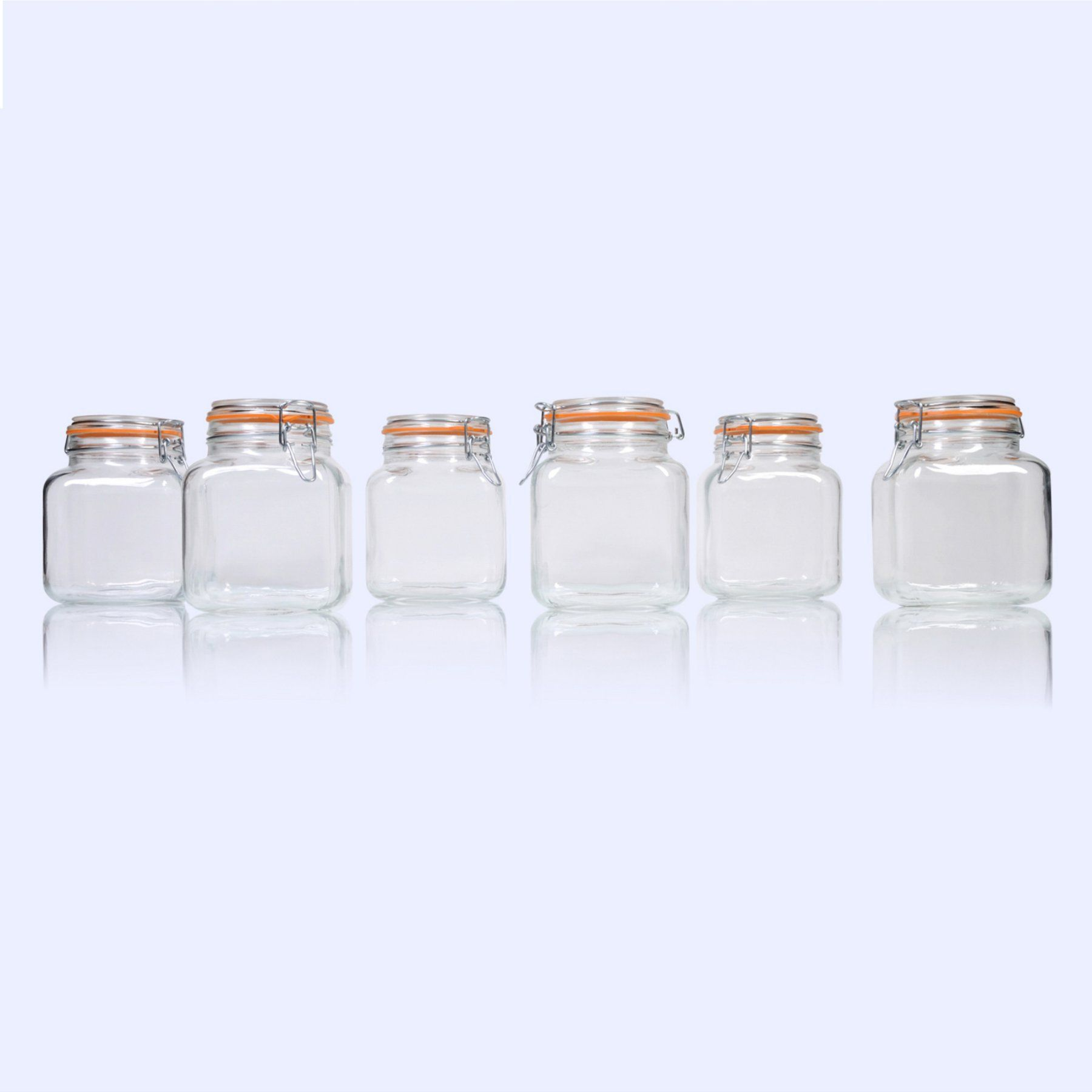 Kitchen canisters glass  Global Amici Borgonovo Hermetic Jar  Set of   ZABSR  Products