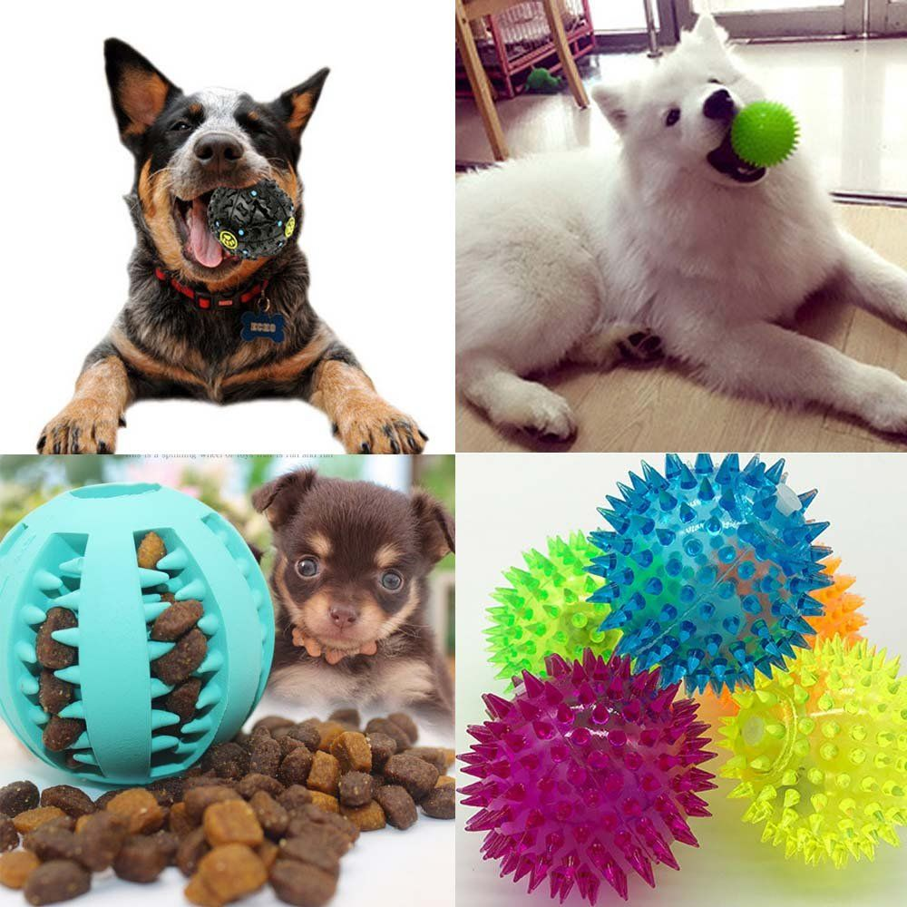 Uode Treat Dispensing Dog Cat Toy Iq Treat Ball With Squeaker