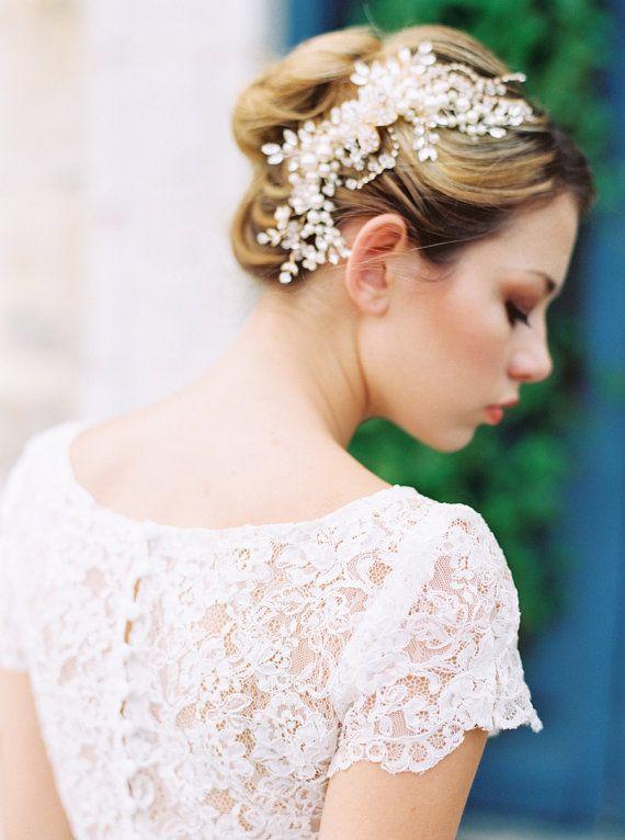 wedding headpiecebridal headpiecewedding hair combbridal hair comb wedding accessoriesromantic wedding headpiecepearl comb etta comb