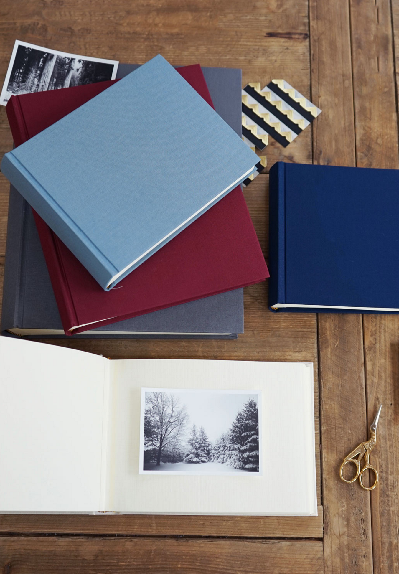 Classic European Bookcloth Photo Albums Design Photography