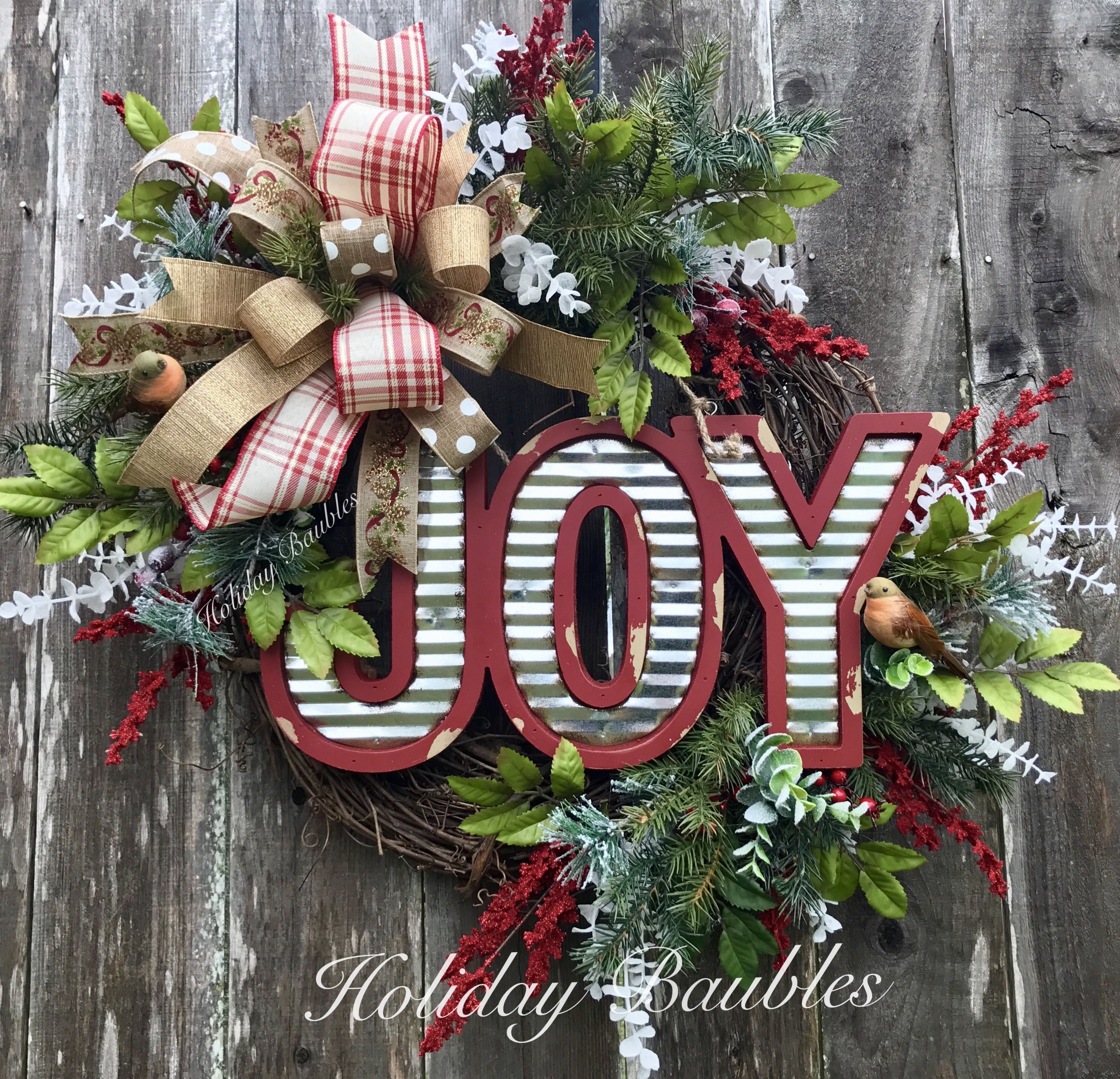 JOY Rustic By Holiday Baubles Part 36