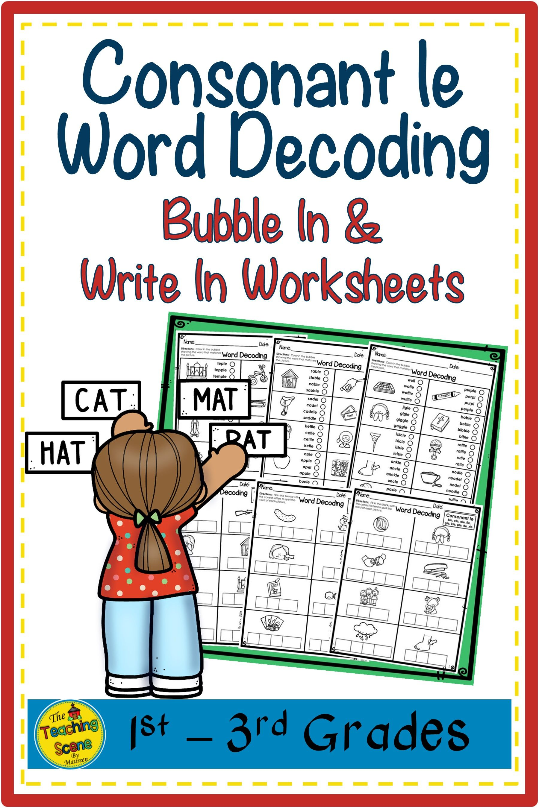 Consonant Le Worksheet   Printable Worksheets and Activities for Teachers [ 2700 x 1800 Pixel ]