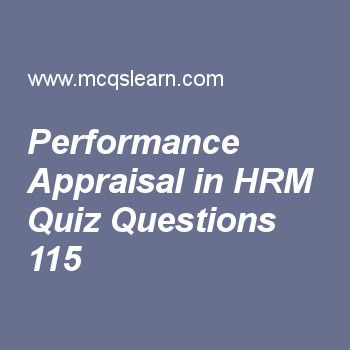 Learn Quiz On Performance Appraisal In Hrm Bba Hrm Quiz  To