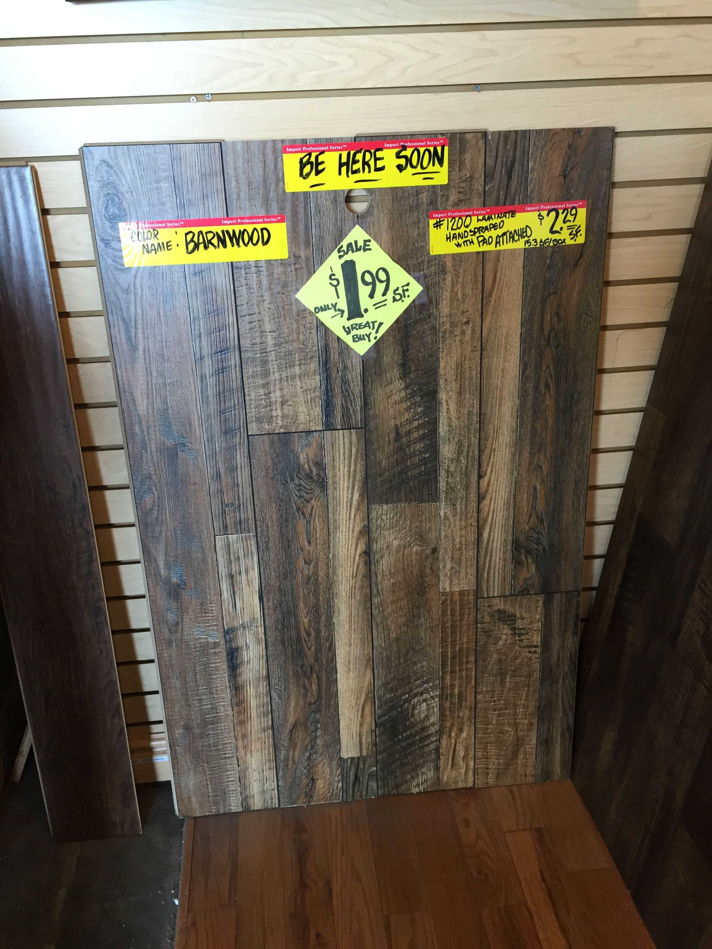 Best Selling Barnwood 14mm Pad Attached Laminate Floor Rustic