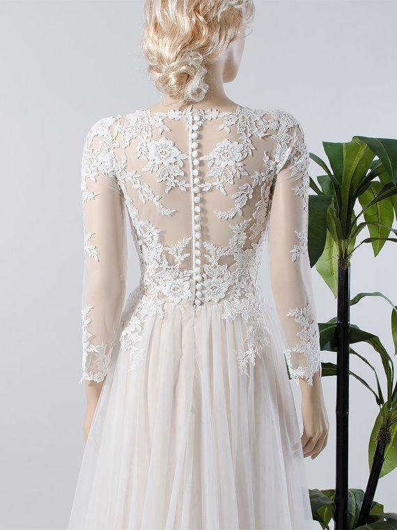 Spitzen Brautkleid Langarm Brautkleid Brautkleid Mit Hochzeitskleid