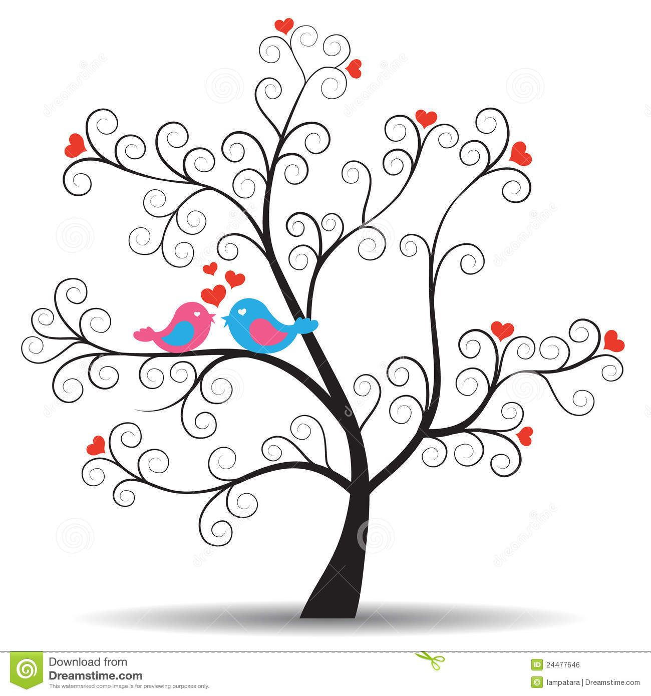 Images Of Tree And Bird Silhouette