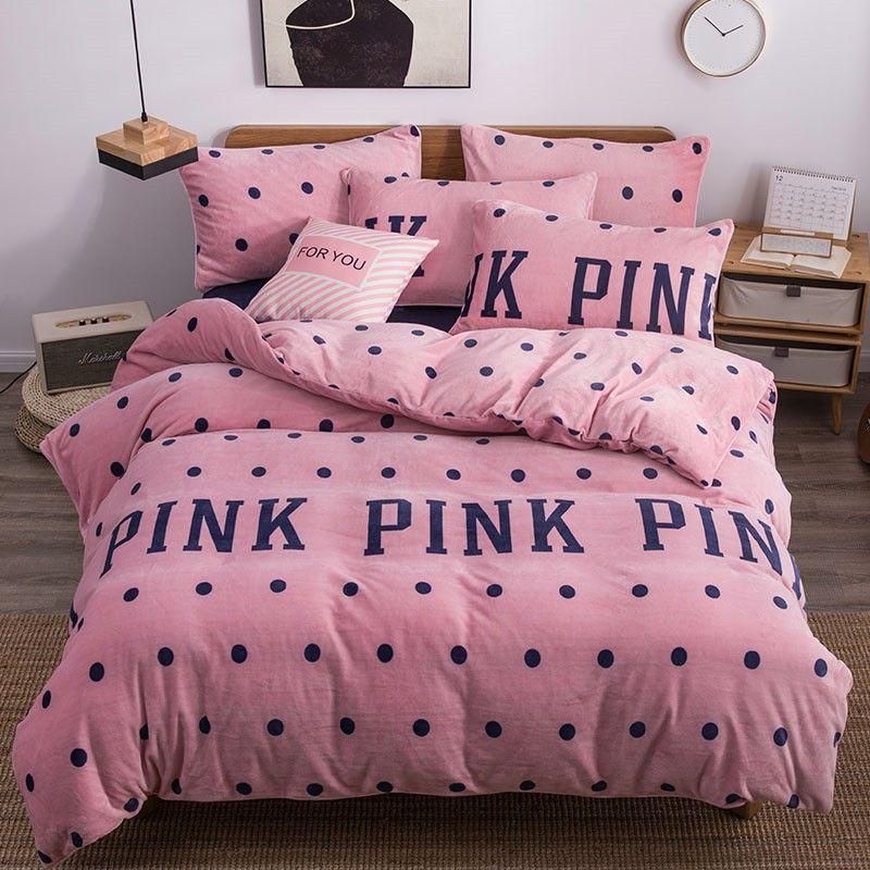 Pink Victoria Secret Queen King Old Rose Velvet Bedding Set Bedsets Bedding King In 2020 Victoria Secret Bedding Sets Velvet Bedding Sets Victoria Secret Bedding