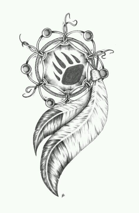 Dream Catcher Tattoo Bear Claw Naitve American Animal Totems Adorable Native Dream Catcher Tattoo