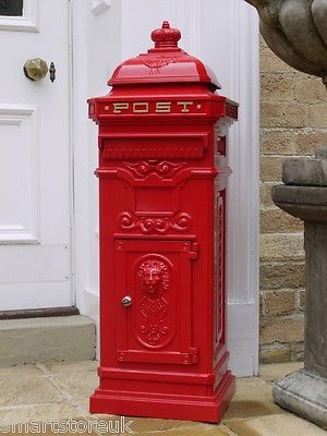 Traditional Victorian Style Letter Post Box S Wall Floor Mounted Aluminium Victorian Style Letters Post Box Red Mailbox