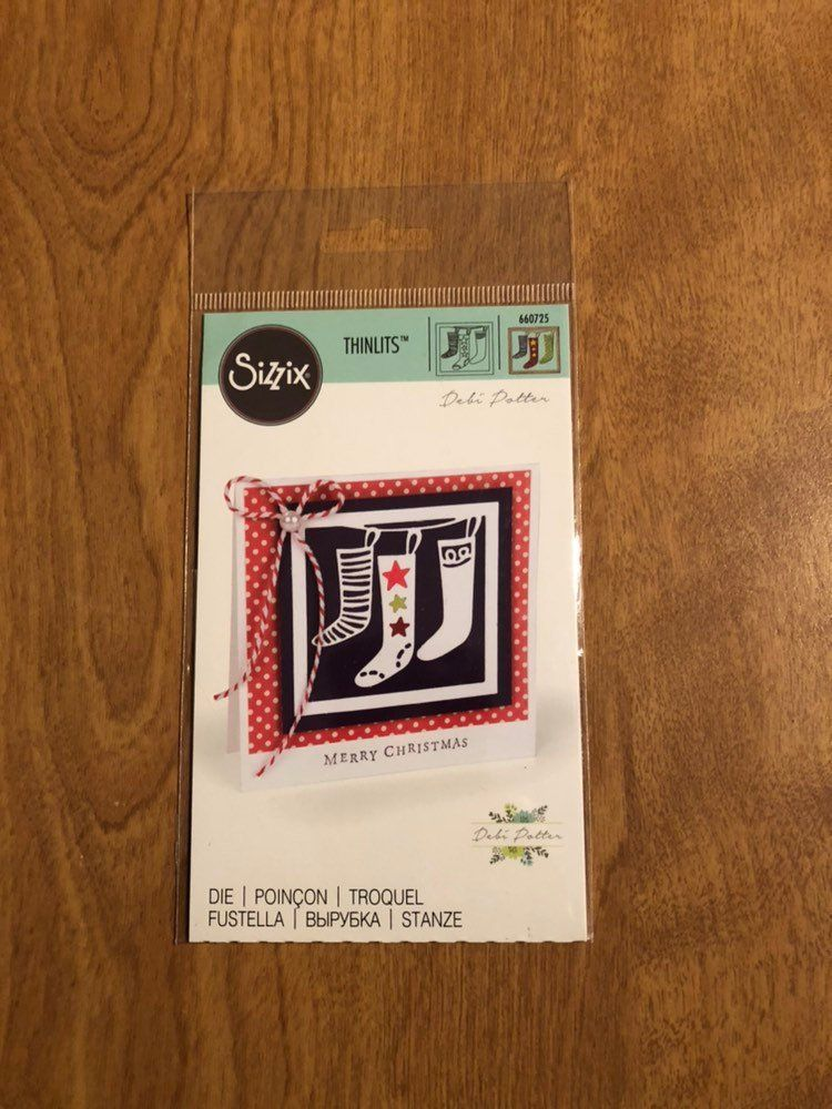 Christmas Stockings Sizzix Thinlits Die By Debi Potter