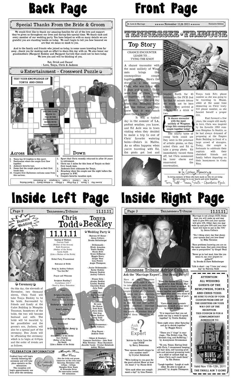 Mini Newspaper Wedding Program by KoTwoDesigns on Etsy, $155.00 ...