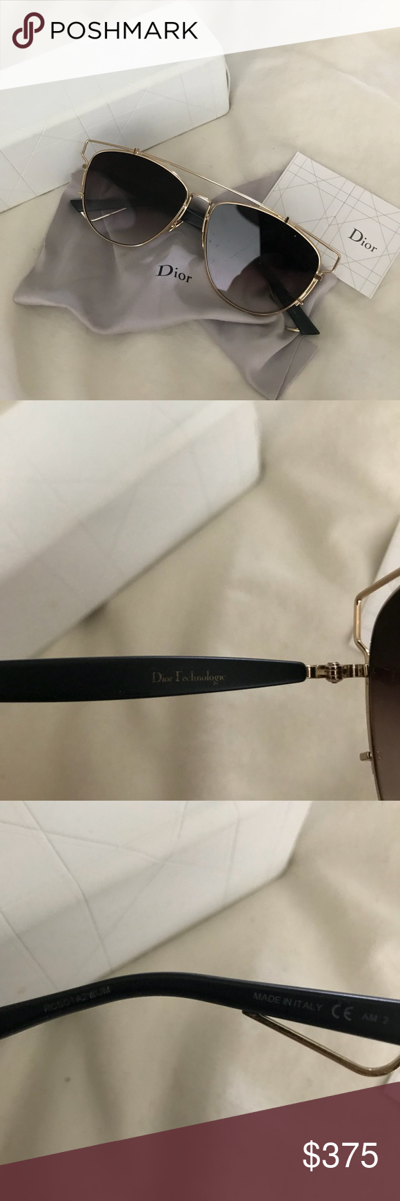 3024b15386a1 Dior Technological Shades in Faded Gold Bronze 100% authentic - I only sell  authentic items SOLD OUT everywhere Comes with original box
