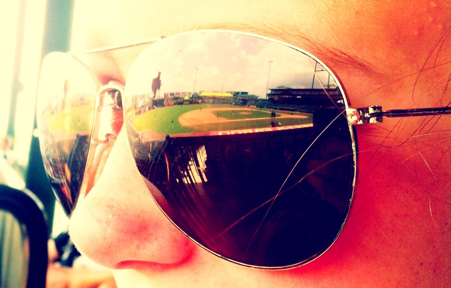 reflecting sunglasses are perfect for artsy pictures