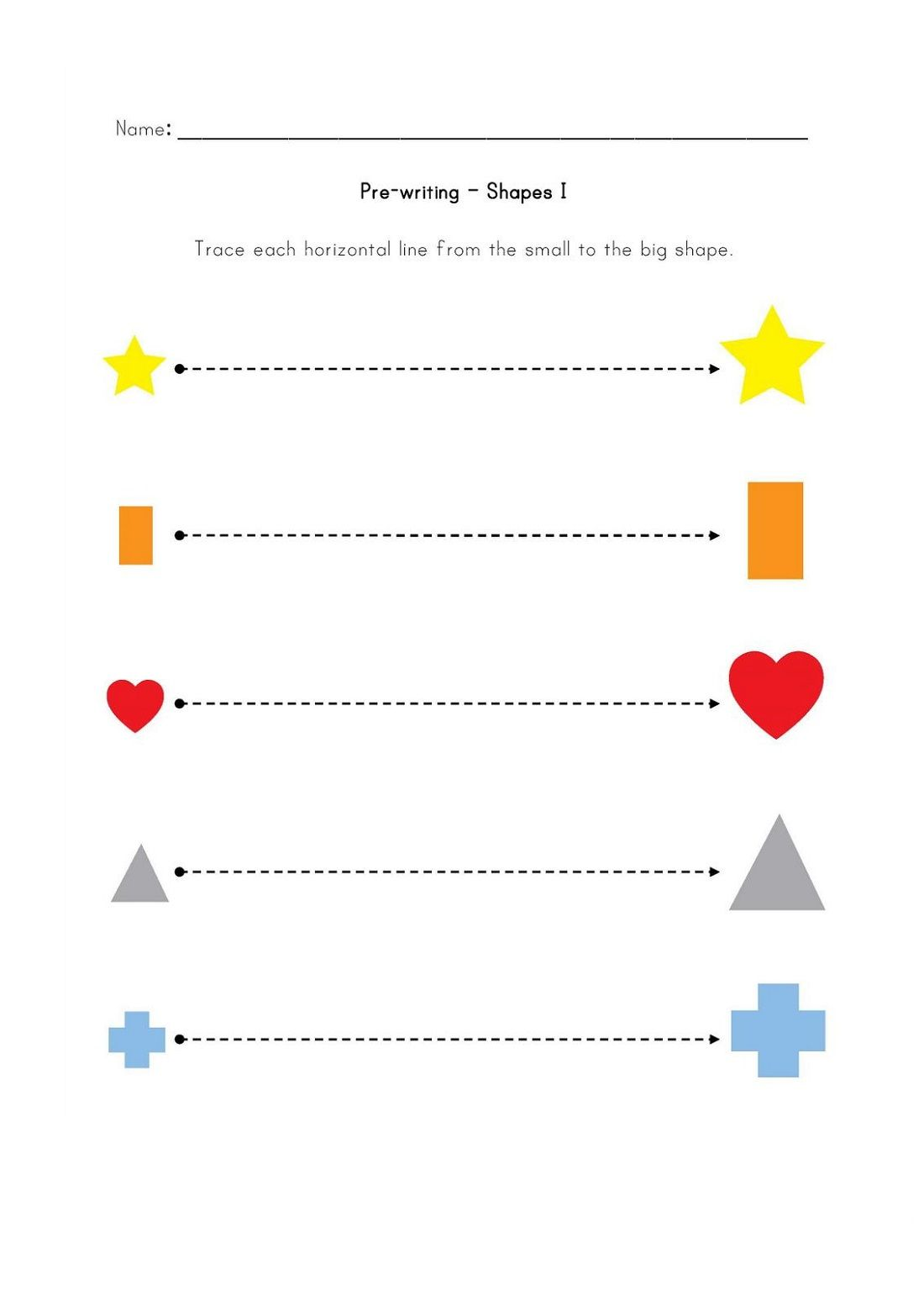 Pre K Shapes Worksheets Printable