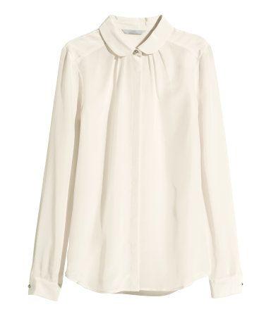 73db5f0f2984f Silk Blouse - Natural White