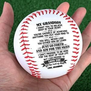 Grandma To Grandson - You Will Never Lose - Baseball #sweetestdaygiftsforboyfriend