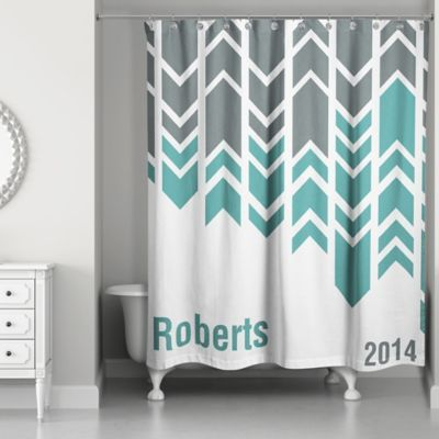 Arrow Line Shower Curtain In Green Grey White Multi Curtains