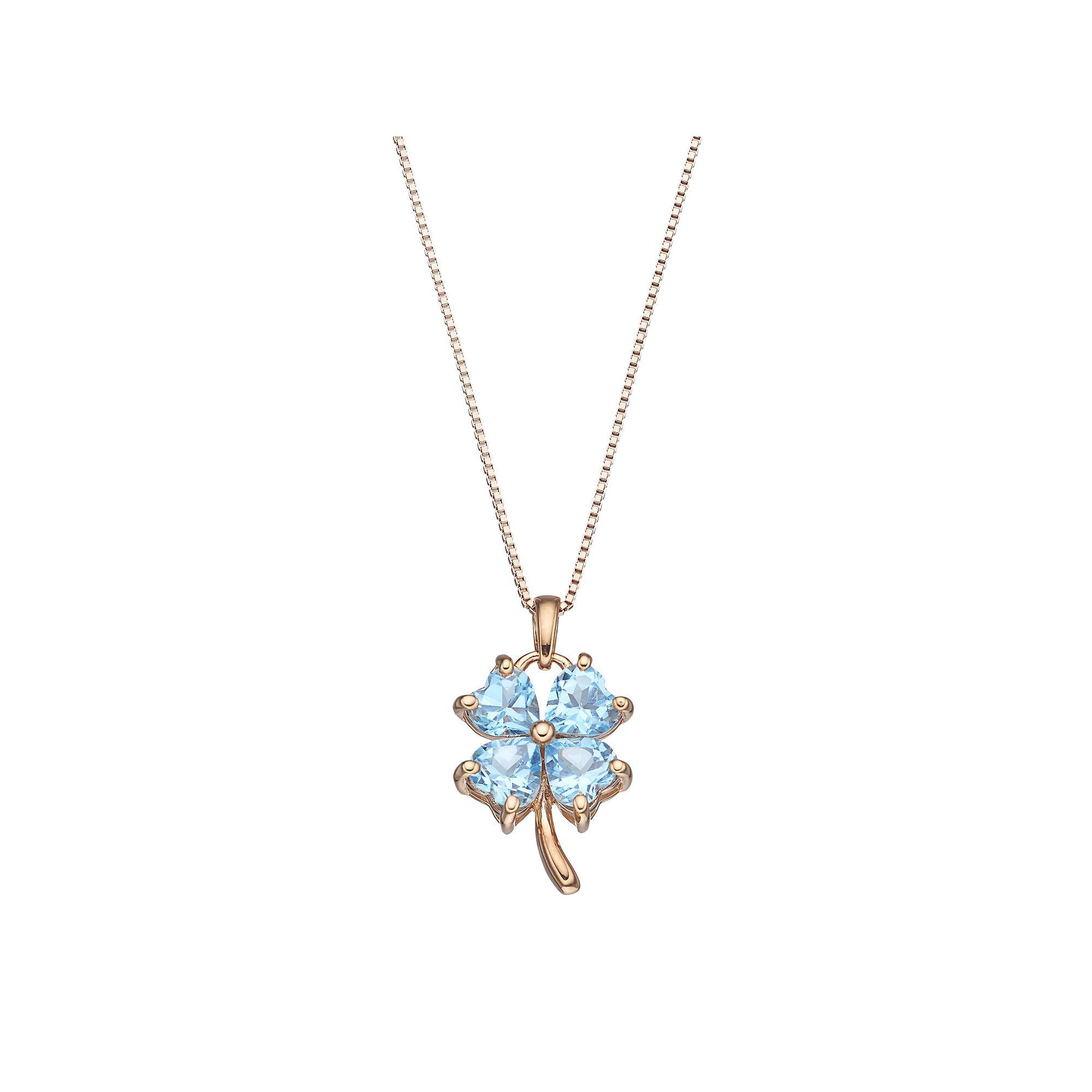 jewel cathy pendant en necklace waterman white bird four leaf clover d