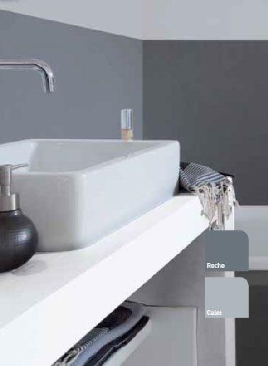 peinture pour salle de bain gris souris