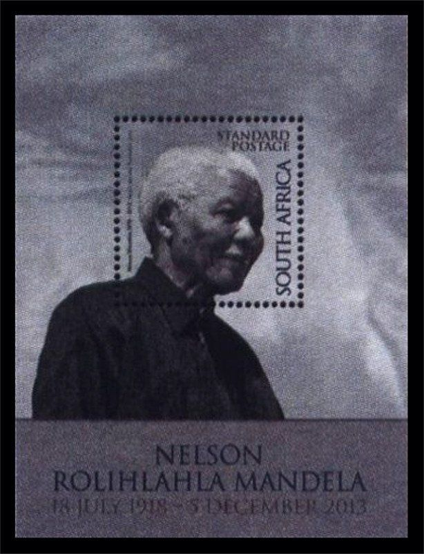 Stamp: Death of Nelson Mandela (South Africa) (Nelson Mandela) Mi:ZA BL142