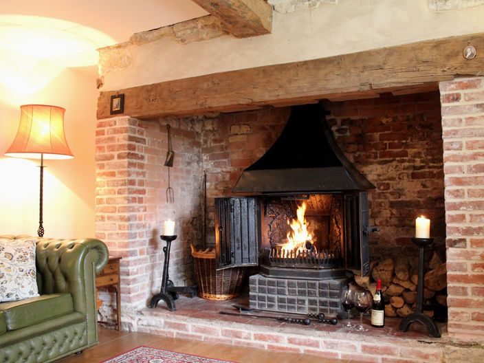 Woodburner In Stone Inglenook Style Fireplace Google