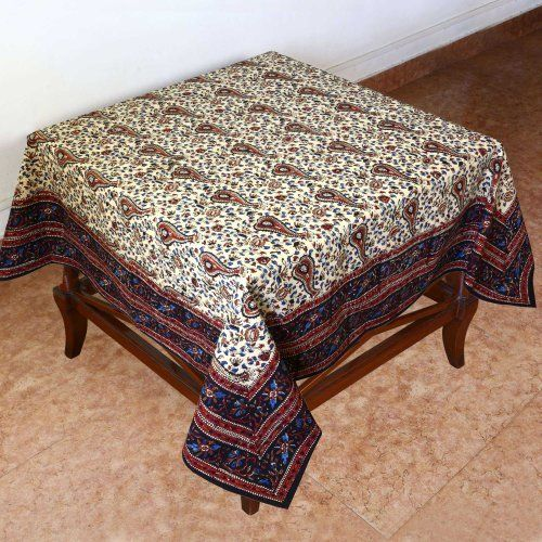 Delightful Spring Decor Table Floral Cotton Indian Tablecloth Square 60 X 60 By  ShalinIndia, Http: