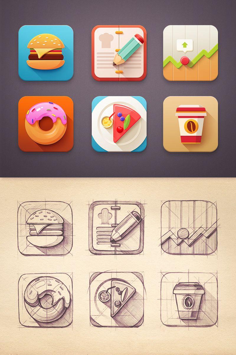 Die besten 25 design von app symbolen ideen auf pinterest anwendungssymbol spiel icon design - Android app ideen ...