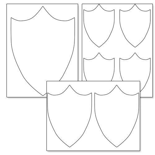 free printable shield template | Shield template, Free ...