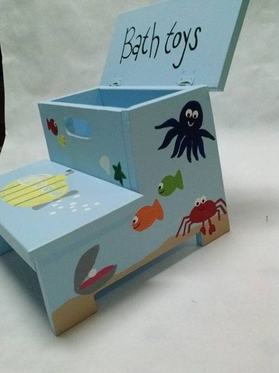 Children S Storage Stool Under The Sea By Wouldknots On