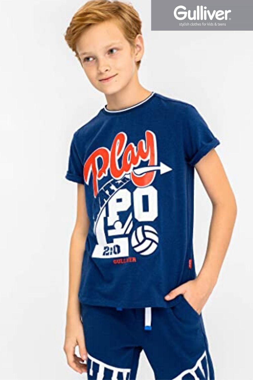 Gulliver T Shirt Kinder T Shirt Jungen Rundhals Kurzarm Baumwolle 9 15 Jahre 134 164 Cm Kinderkleidung Stilvolle Outfits Tuch