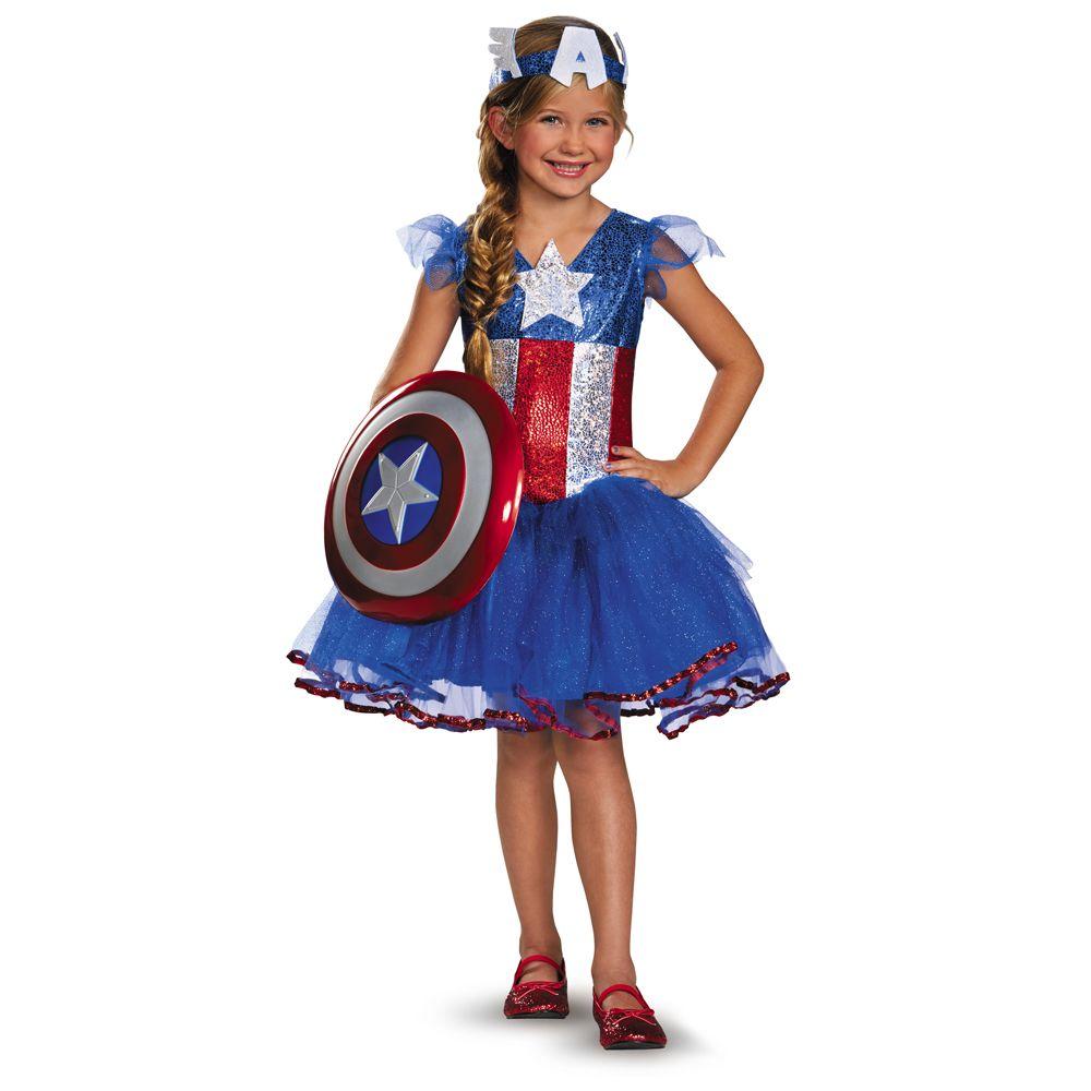 Costumi Da Bambino · Costumi Per Bambini · Resultado de imagen para disfraz  capitan america para niña 3de795cf530
