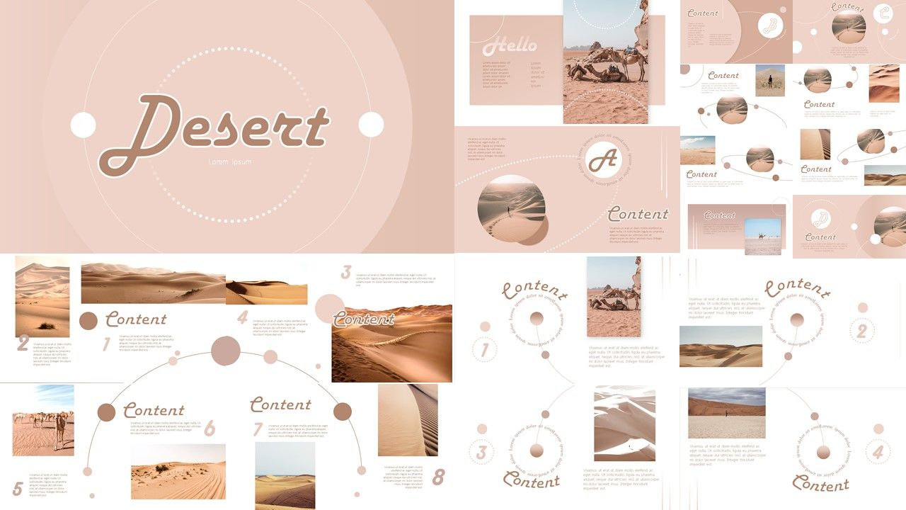Desert Powerpoint Template In 2020 Powerpoint Presentation Design Simple Powerpoint Templates Creative Powerpoint Templates