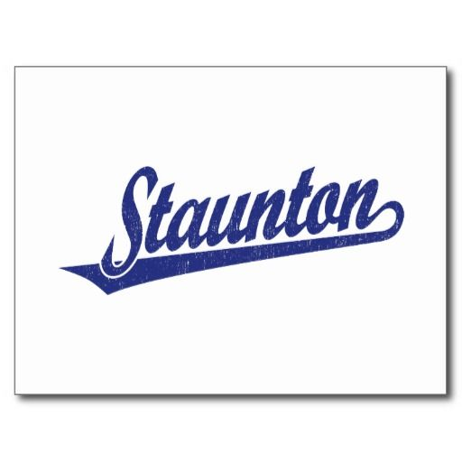 Staunton script logo in blue distressed post cards so please read the important details before your purchasing anyway here is the best buyHow to          	Staunton script logo in blue distressed post cards Here a great deal...