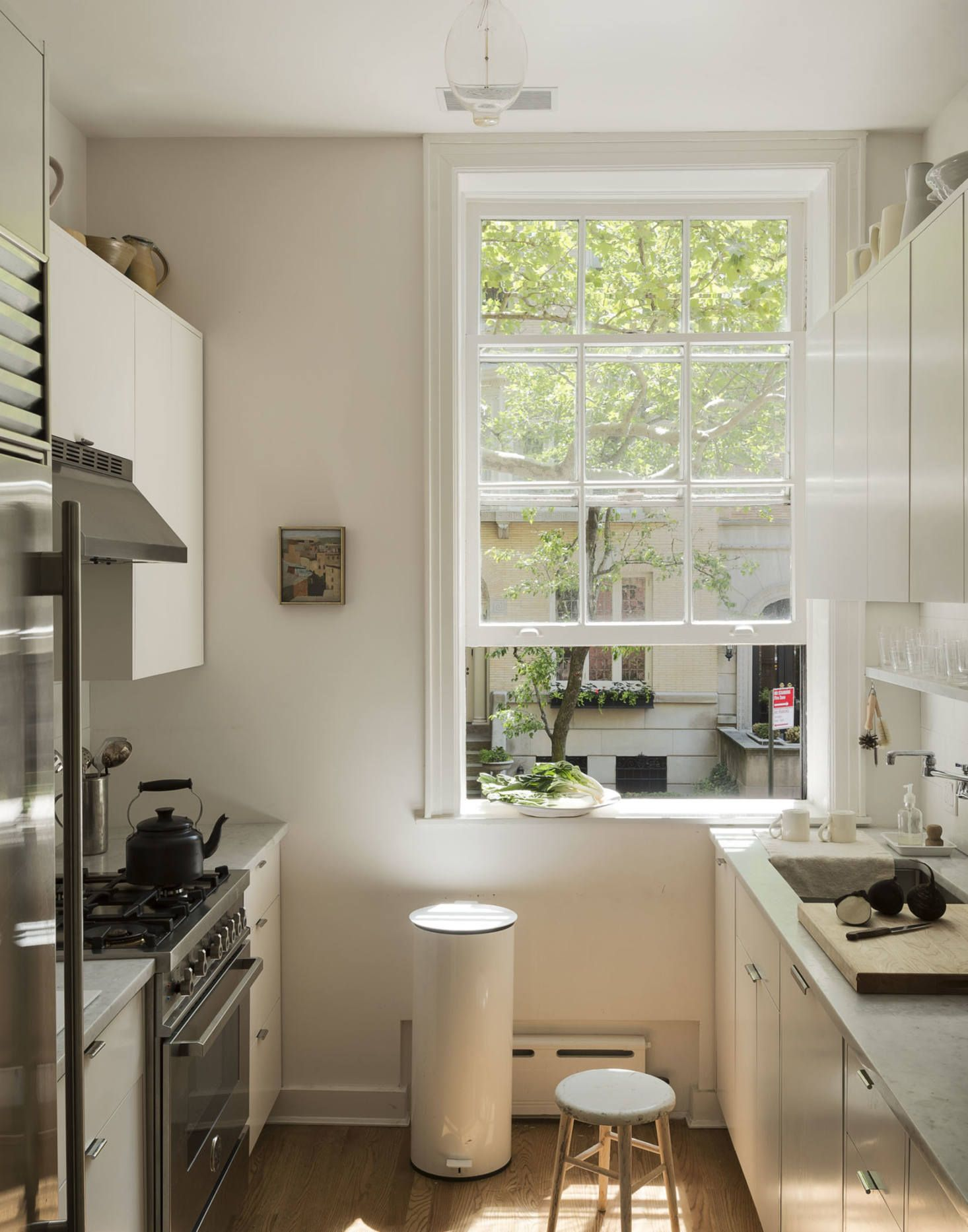 Before After A Remodelista S Refreshed Parlor Floor Flat In Brooklyn Heights Ny Remodelista In 2020 Parlor Floor Galley Kitchen Home Decor Kitchen