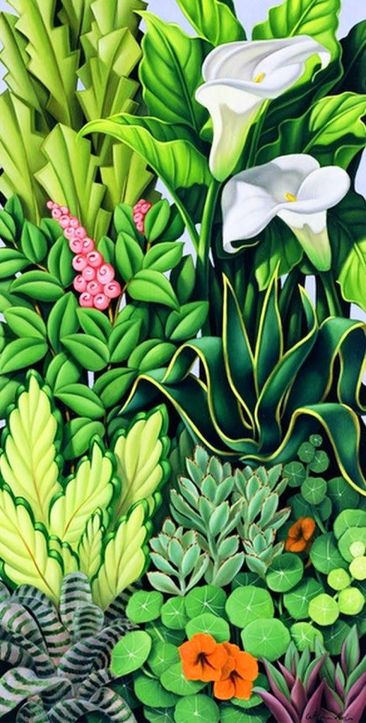 pinturas verticales de flores al oleo pinteres