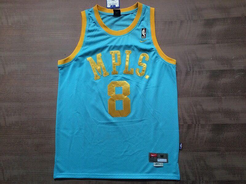 outlet store 22a57 760de NIKE NBA MPLS 8 BRYANT LIGHT BLUE RETRO BASKETBALL CLOTHES ...